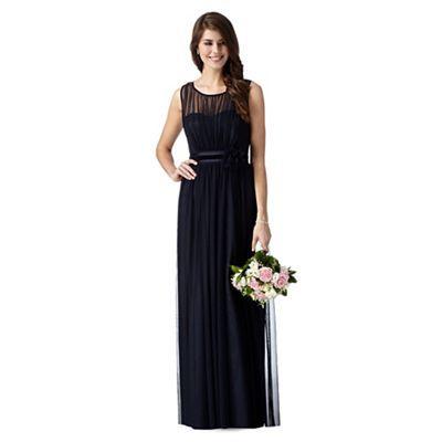 Debut Dark blue mesh corsage maxi dress- | Debenhams