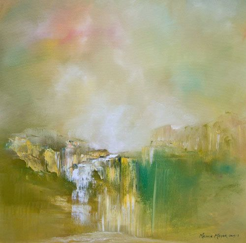 """Into the Golden Cave"" by Melanie Meyer from her Emergence Art Gallery in Cape Town"