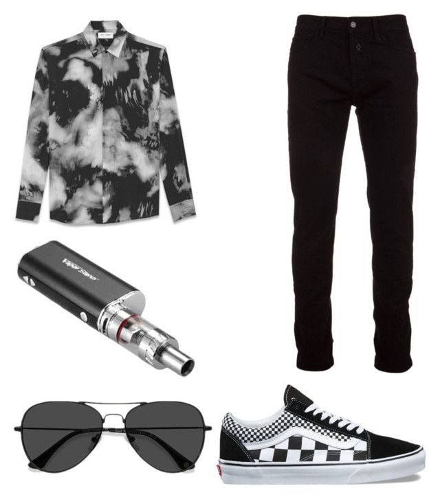 """""""Untitled #9"""" by westboorg-e on Polyvore featuring Yves Saint Laurent, Marcelo Burlon, Vans and EyeBuyDirect.com"""