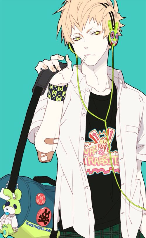 Noiz | DRAMAtical Murder - I absolutely want that wristband, and keychain.
