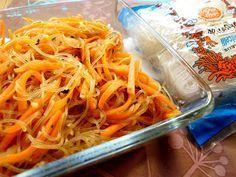 Recettes d'une Chinoise: Carottes sautées à l'ail et aux vermicelles 胡萝卜炒粉丝...