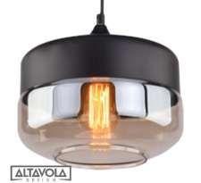 LAMPA wisząca MANHATAN CHIC LA053/P Altavola industrialna OPRAWA zwis loft bursztynowy