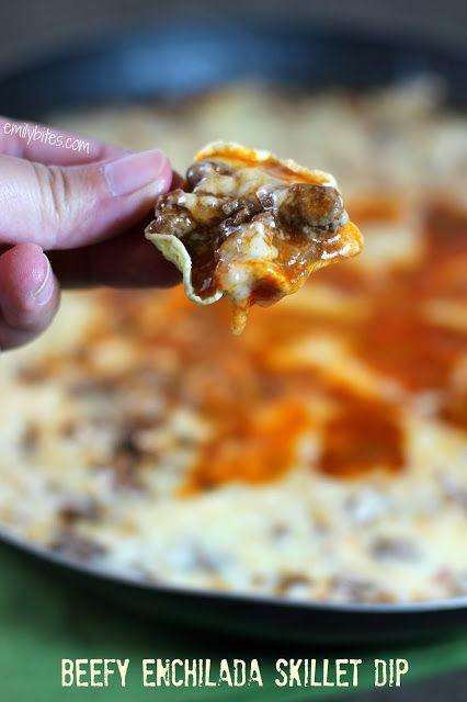 Emily Bites - Weight Watchers Friendly Recipes: Beefy Enchilada Skillet Dip