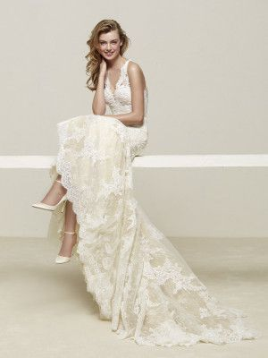 Robe de mariée nœud en gros-grain