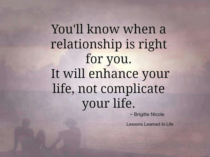The right relationship for you <3