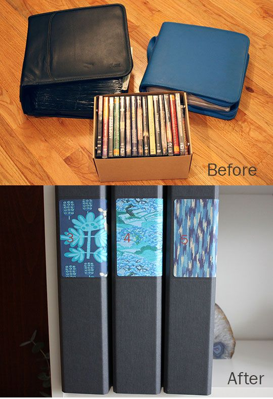 "This looks very, very satisfying.  ""How To Organize CDs and DVDs in Standard Binders Apartment Therapy Tutorials"""