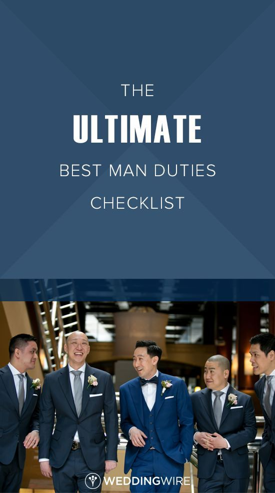 The Ultimate Best Man Duties Checklist - From leading the groomsmen to planning the bachelor party, see a checklist of the best man must-dos on @weddingwire!   {Little Blue Lemon Photography & Cinematography}