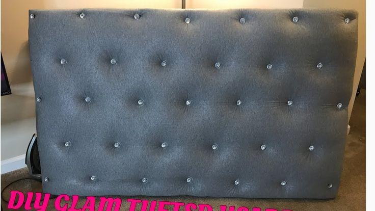 DIY: No Sew Glam Tufted Headboard | Shar Jackson