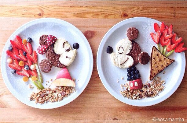 Minnie and Mickey Mouse food