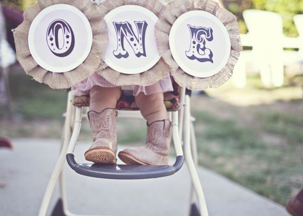 Shabby Chic Cowgirl 1st Birthday Party - Kara's Party Ideas - The Place for All Things Party