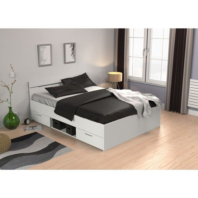 Lit Tiroirs Blanc Perle Giftryapp Bed Bed Frame With Storage Home