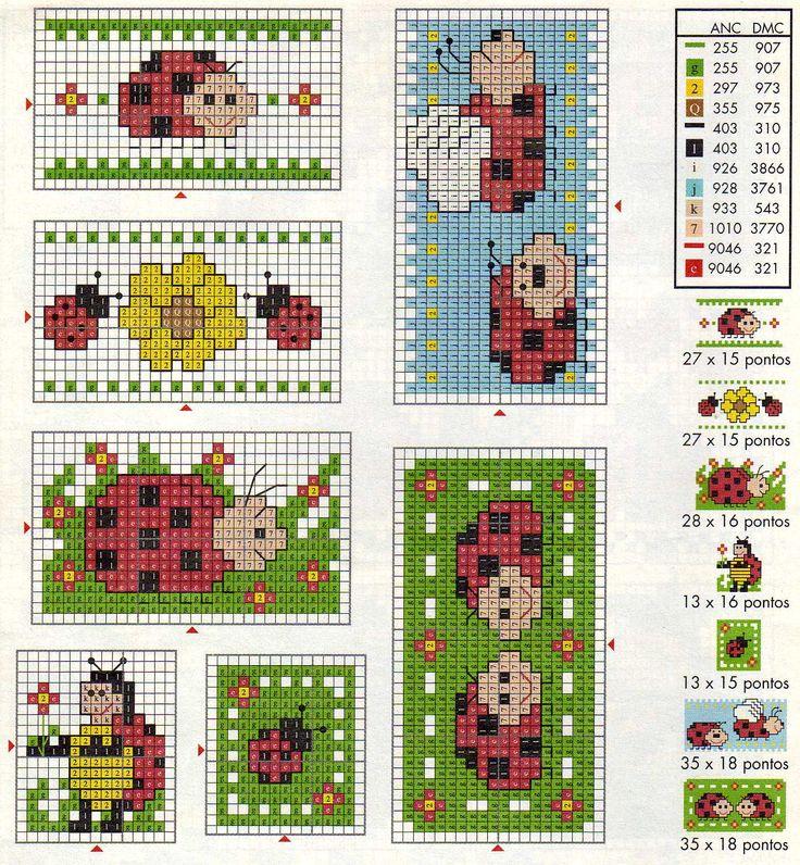 Ladybug Cross Stitch :)