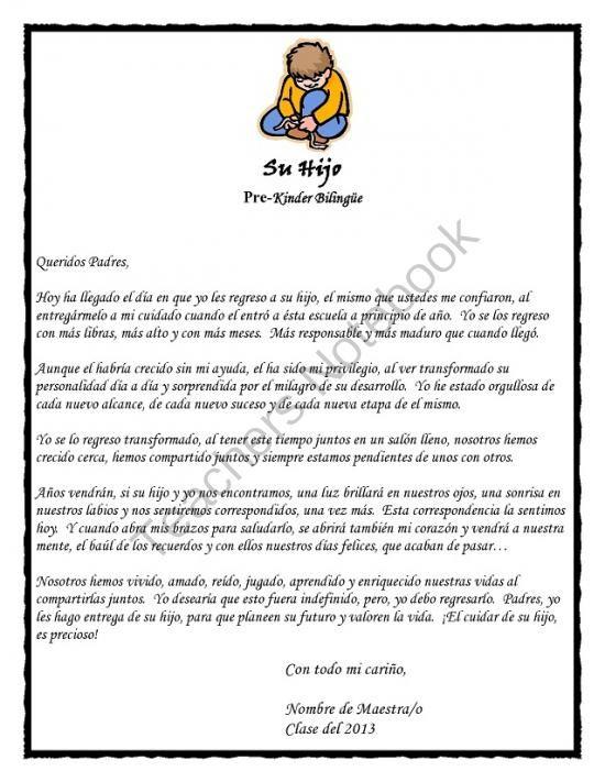 carta para padres fin de año
