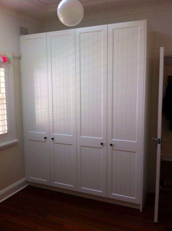 Wardrobe shaker doors on poly finish
