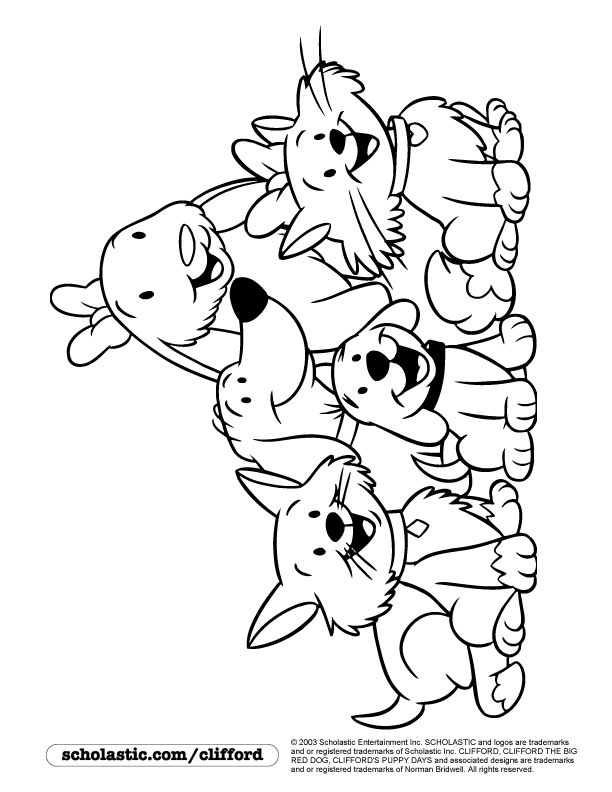 oh clifford puppy days coloring pages - photo #6