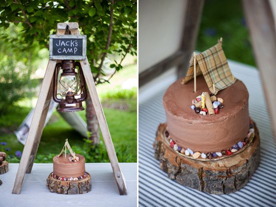 camping birthday party theme ... so clever!
