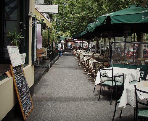 Lygon street in Little Italy, Melbourne was one of our favorite spots. Amazing strip of sidewalk restaurants!