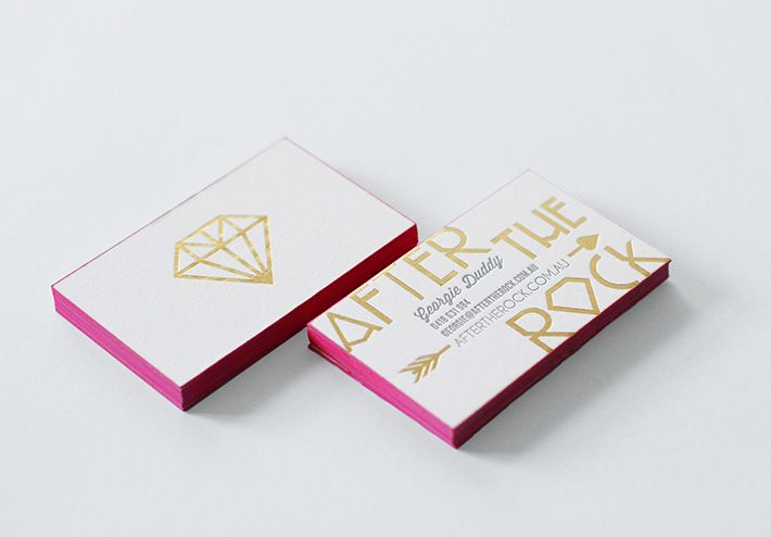 After the Rock - biz cards by Smack Bang Designs aftertherock.com.au