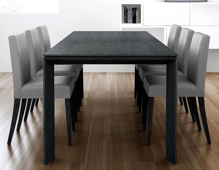 Mesa de comedor modelo iru con dos extensiones for Ver modelos de sillas de madera