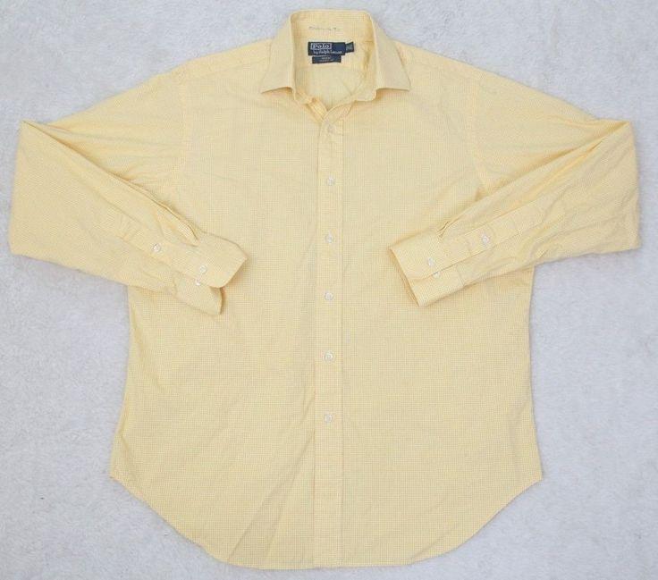 Ralph Lauren Polo Dress Shirt 16.5 36/37 Cotton Large Mens Classic Fit Regent #RalphLauren #DressShirt