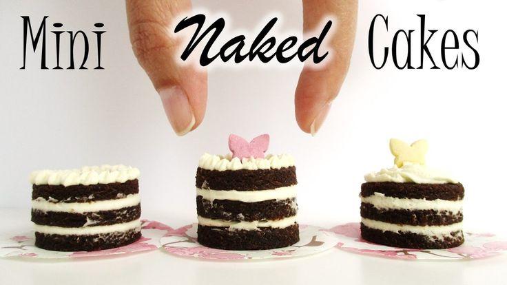 DIY Mini Naked Cakes // EDIBLE DOLLS CAKE TUTORIAL