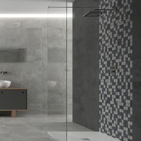 if youu0027re looking for modern grey bathroom tiles choose the stone trend range of