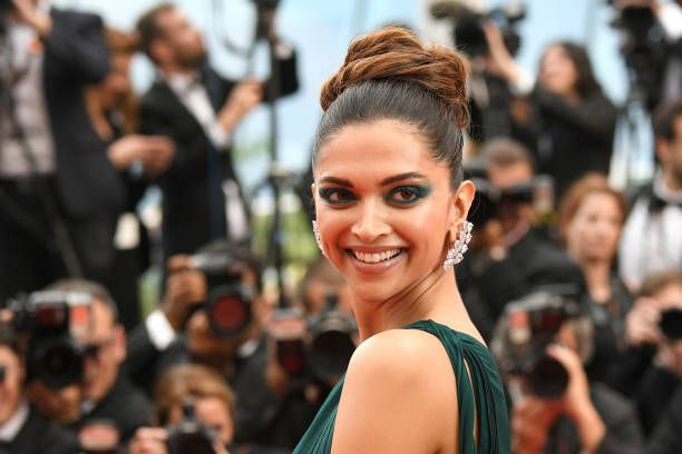 Deepika Padukone attends the 'Loveless ' screening during the 70th annual Cannes Film Festival at Palais des Festivals on May 18 2017 in Cannes France
