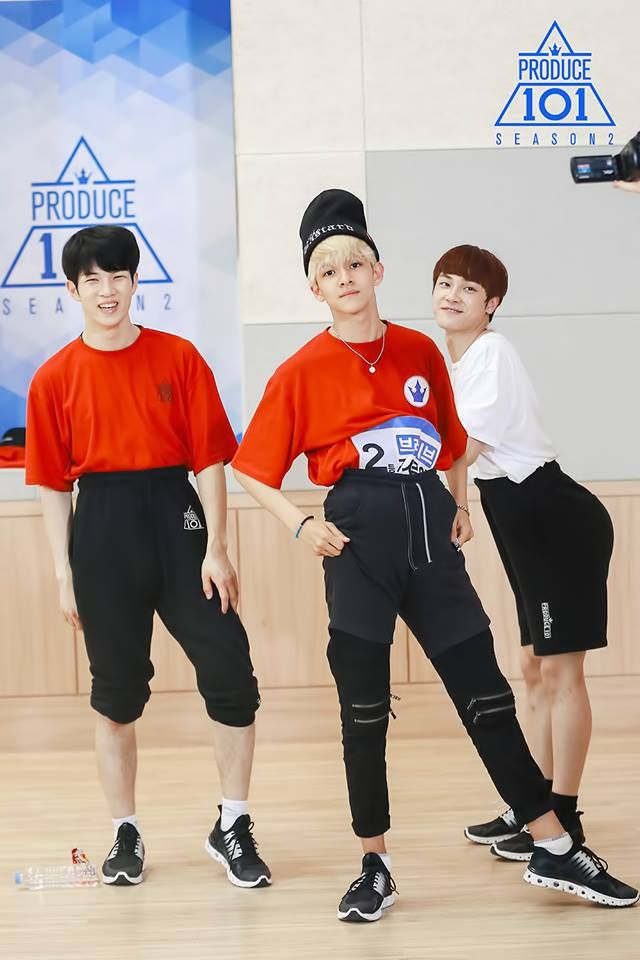 produce 101 season 2 kim samuel joo haknyeon grandma pants