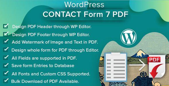 Wordpress Contact Form 7 Pdf Cf7 Cf7 Pdf Codecanyon Columnsarray Contact Form 7 Database Contact Form 7 Pdf Con Wordpress Contact Form Plugins