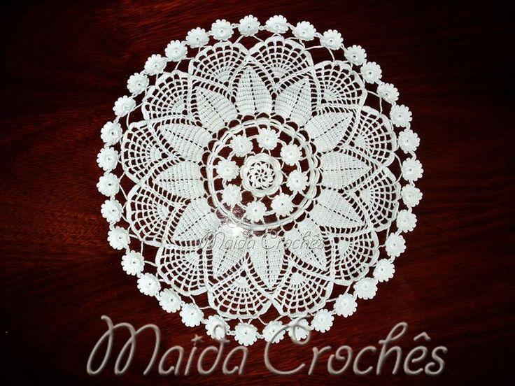 Maida Crochês: Toalha de Crochê Redonda