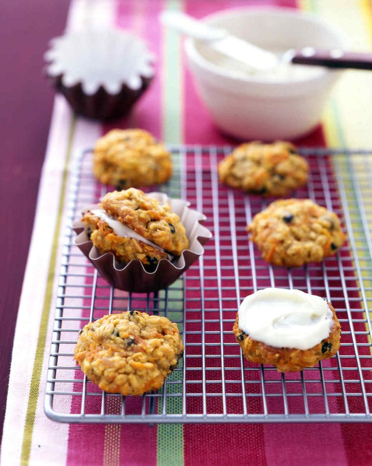 Carrot-Cake Cookies   Martha Stewart Living - These sandwich cookies combine all the flavors of classic carrot cake into a convenient handheld package.