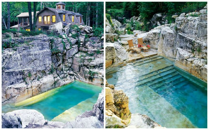 nice Beautiful Pool In A Limestone Quarry  #Garden #Pool #Rock #spa       The pool is built into a Berkshires limestone quarry in Sheffield, Massachusetts, on about 50 acres property. The challenge of this pool a...