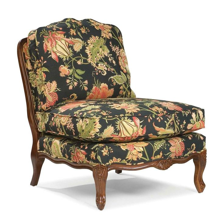 Chairs Traditionally Styled Armless Lounge Chair By Fairfield   Riverview  Galleries   Upholstered Chair Durham, Raleigh U0026 Chapel Hill, North Carolina