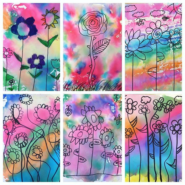 Gorgeous Spring Themed Marker Monoprints by my newest group of Art clubbers today!! Check out my story to view our creative process!!!