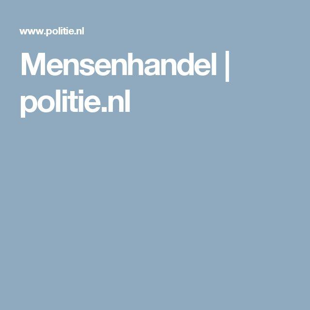 Mensenhandel | politie.nl