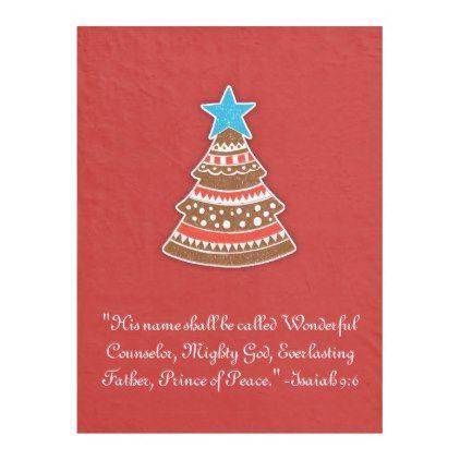 #Christian Christmas Wonderful Counselor Scripture Fleece Blanket - #Xmas #ChristmasEve Christmas Eve #Christmas #merry #xmas #family #kids #gifts #holidays #Santa