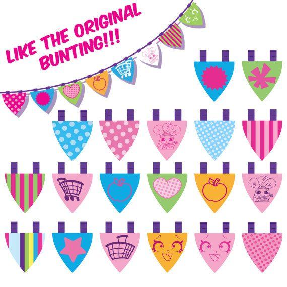 Shopkins Birthday Banner Shopkins Party Banner: DIGITAL Shopkins Feliz Cumpleaños Banner Shopkins Por