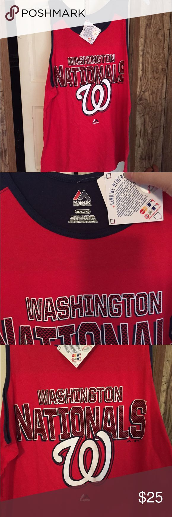 🆕 Washington Nationals Baseball Tank Top NWT XL Brand new with tags! Thank you for looking! Majestic Shirts Tank Tops