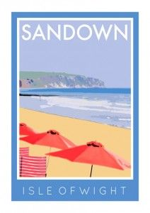 sandow isle of wight poster art