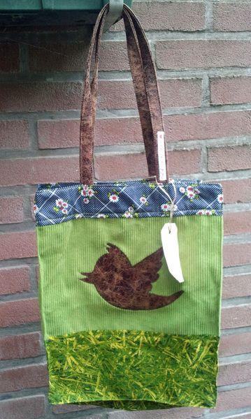 Shopping Bags – Retro Twitter Bag / Tote – a unique product by Funtastix on DaWanda