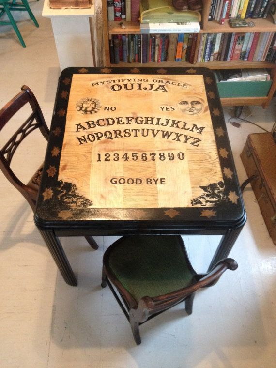 Hey, I found this really awesome Etsy listing at https://www.etsy.com/listing/194010216/antique-ouija-board-diningkitchen-table