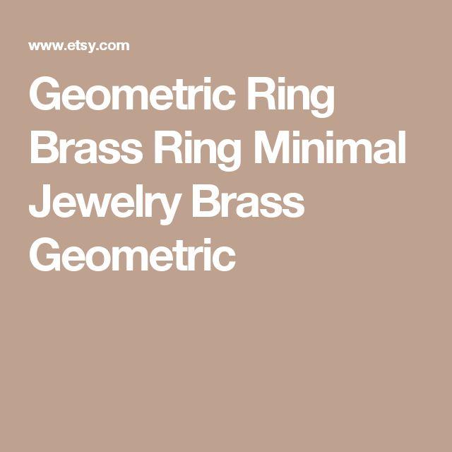 Geometric Ring Brass Ring Minimal Jewelry Brass Geometric