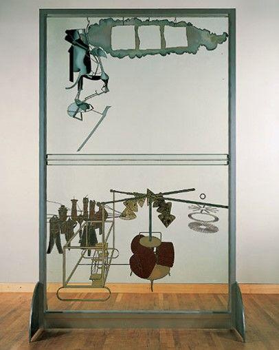 """""""La novia puesta al desnudo por sus solteros, incluso"""" o """"El gran vidrio"""", 1915-23, Museo de Filadelfia"""