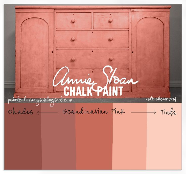 An antique sideboard painted with shades and tints of Scandinavian Pink, Annie Sloan Chalk Paint.