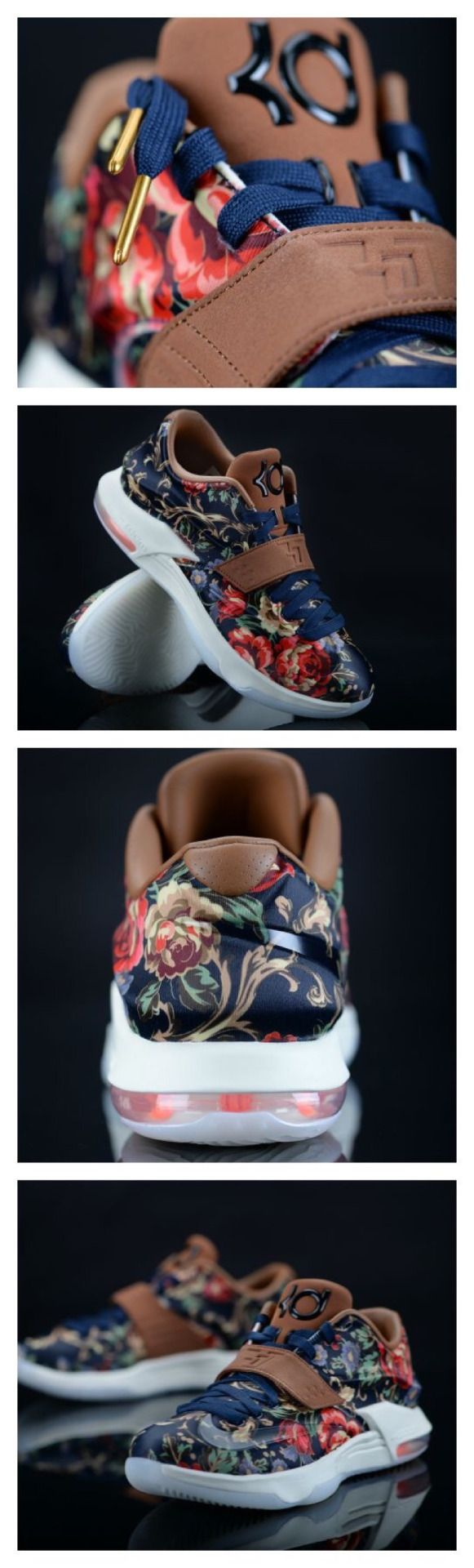 Floral Nike KD 7's | http://m.eastbay.com/index