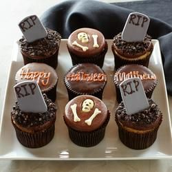Set of 9 More Personalized Halloween Graveyard Cupcakes