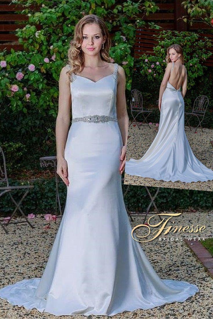 Slinky fitted dress from Finesse Bridal Wear in Listowel, Co Kerry #WeddingDress #Slinky