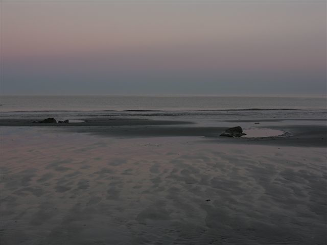 The tide is out on Weir's Beach so get out for that early  morning stroll!
