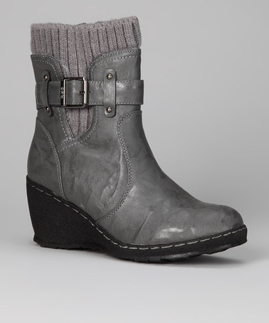 Take a look at this Gray Mandy Boot by Luxe Looks: Women's Shoes on