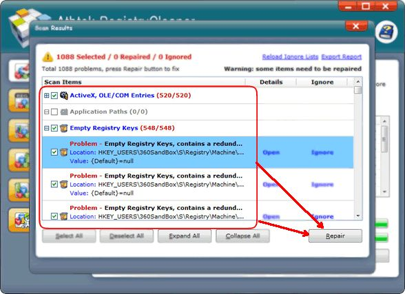 how to clear mru registry windows 7